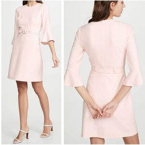 Shoshanna Odila Crepe Belted Dress Sz 10 ::YY5
